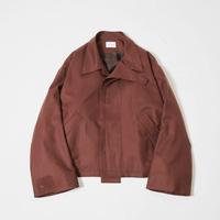 2way collar drizzler jacket(Brown)