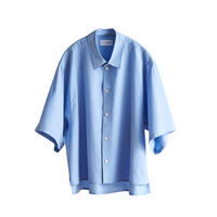 【在庫販売】COTTON H/S SHORT SHIRT(SAX)