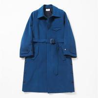 Side slit balmacaan coat(Deep blue)