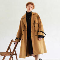 Wide Sleeve Belted Trench Coat