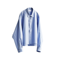 STYLING SHORT WIDE SHIRT(SAX BLUE)