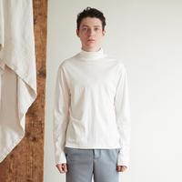Doctor neck long tee(White)