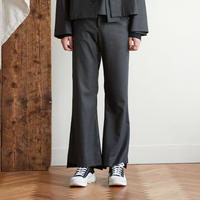 Both sides slit flare pants(Charcoal)
