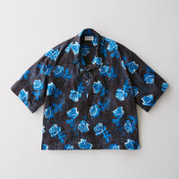 Blue rose Open Color Shirt     (BLACK)