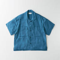 Spun  cupra Open collar shirt (Blue)