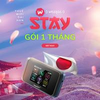 [Mạng Softbank] Gói Dùng Thử Wifi Weefeestay (bao gồm thiết bị & sim) - 1 tháng