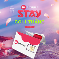 [Mạng Softbank] Gói Dùng Thử Wifi Weefeestay (sim) - 1 tháng