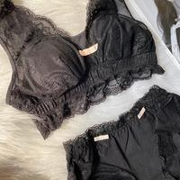 パッド付き black bralette set  up