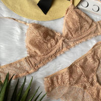 パッド付きbralette beige set up
