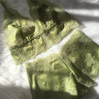green bralette set  up  【T-0083】