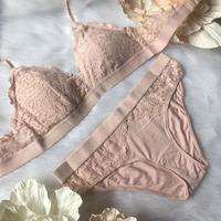 選べる2size  パッド付き light pink set  up 【A-0021-PI】