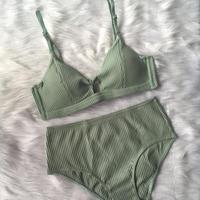 選べるSsize・M size cotton  green bralette high set up