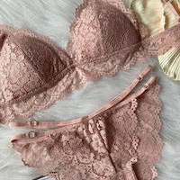 パッド付き bralette set up pink
