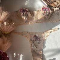 beige × pink flowers