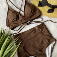 swimwear brown