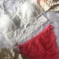 パッド付 white × bright pink