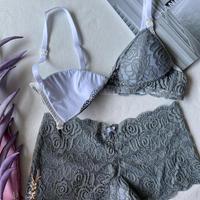 Numéro5 Mommy bra blue gray【L-0010】