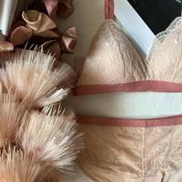 パッド付きbralette set up baby pink 【A-0291】