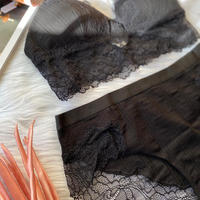 cotton bralette set black
