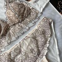 選べるM・L size Floral bralette set white 1