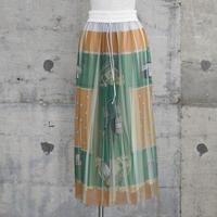 チュールプリーツパンツ(orange green scarf)