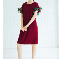 Wire Ribbons dress(wine red)