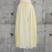 ラバープリントプリーツスカート(yellow×white stripes)