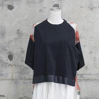 チュールTシャツ(navy×red navy)