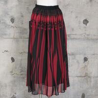 シフォンスカート(red knit)