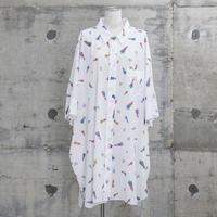 プリント柄ビッグシャツ(BIG print shirts・white)