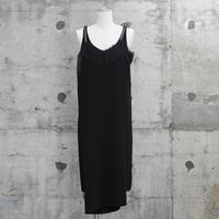 重ね着風キャミワンピース(camisole dress・black)