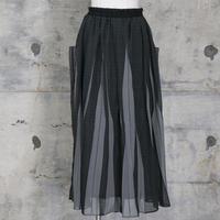 シフォンスカート(gray check)