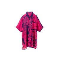 ビッグシャツ(スカーフ柄)/(pink×navy)