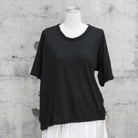 半袖アシンメトリーTシャツ(black)