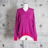 v-neck pull over knit (pink)
