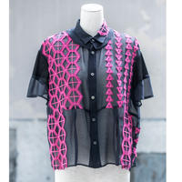 blouse(navy×pink)