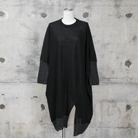 ニットワンピース(black×gray)