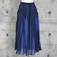 シフォンスカート(blue check)