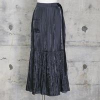 サテンスカート風パンツ(black)