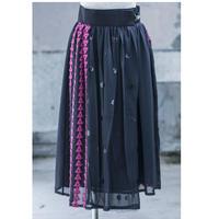 skirt(navy×pink)