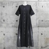 大人カジュアル・ティアードワンピース(tiered one-piece・black)