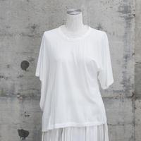 半袖アシンメトリーTシャツ(white)