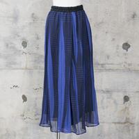 シフォンパンツ(blue check)
