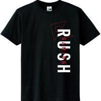 Rush Gaming テキストデザインTシャツ(黒+赤)