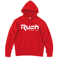 Rush Gaming チームロゴパーカー (Red)