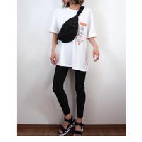 ラベルプリントBIG Tシャツ【WHITE】