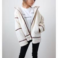 ボアパイピングフードジャケット【IVORY】