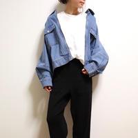 デニムカバーオールブルゾン【L.BLUE】
