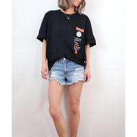 ラベルプリントBIG Tシャツ【BLACK】