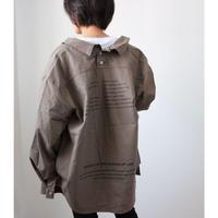 コットンリネンBackプリントBIGシャツ【MOCA】